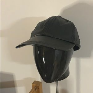 Damier real leather baseball cap